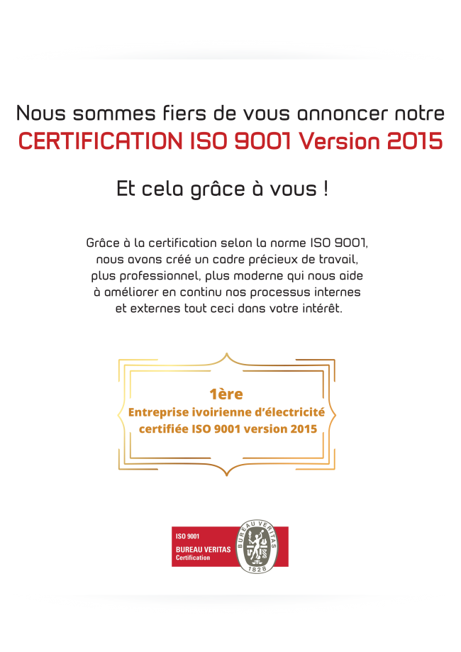 FELICITATIONS-CERTIFICATION